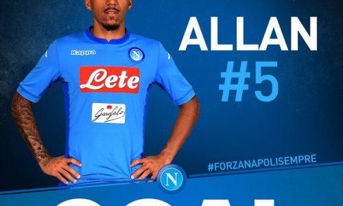"""Napoli, Allan motivato: """"C'è voglia di rivincita contro la Fiorentina"""""""