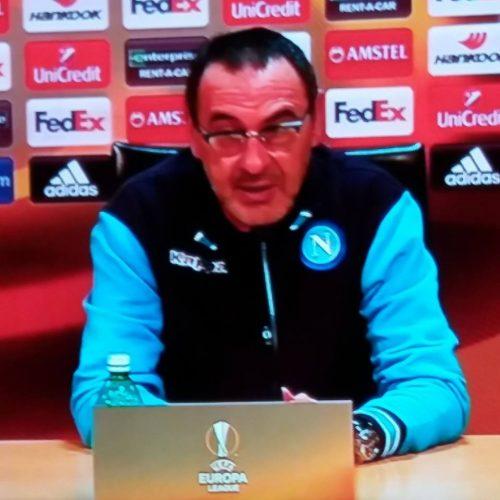 Sarri e Insigne , Conferenza stampa: vigilia di Lipsia vs Napoli