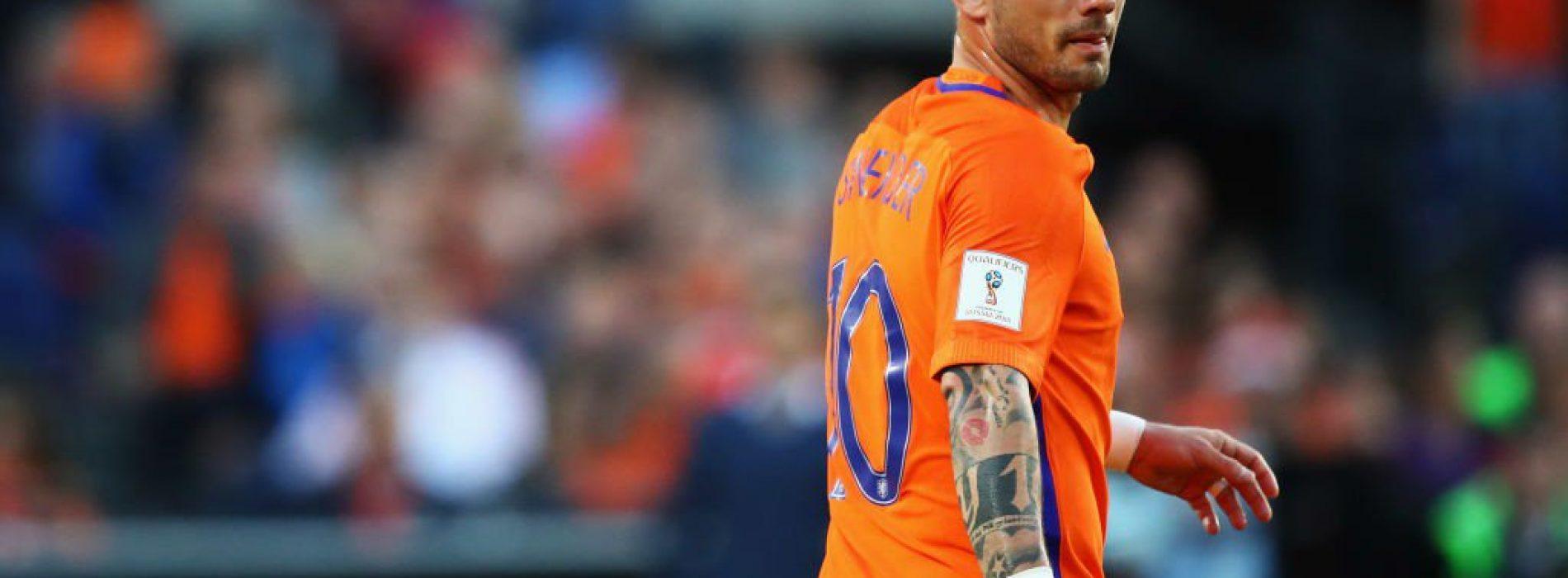 Ufficiale: a 35 anni, Wesley Sneijder lascia il calcio giocato