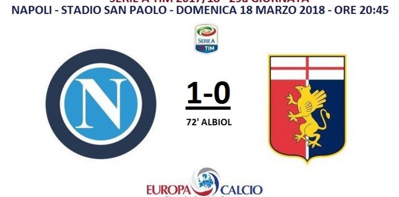 Napoli – Genoa 1-0: cronaca, tabellino e interviste