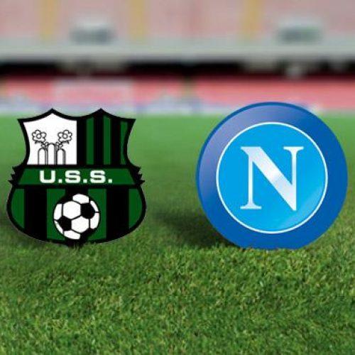 Sassuolo – Napoli, le formazioni ufficiali