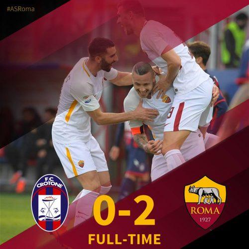 Roma, altro passo verso la prossima Champions: Crotone battuto 2-0