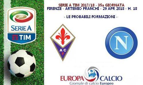 Fiorentina – Napoli, le probabili formazioni