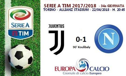 Juventus – Napoli 0-1: cronaca, tabellino e interviste