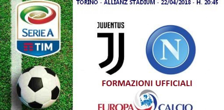 Juventus – Napoli, le formazioni ufficiali