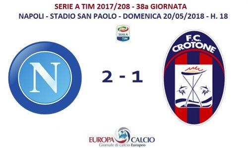 Napoli – Crotone 2-1: cronaca, tabellino e interviste