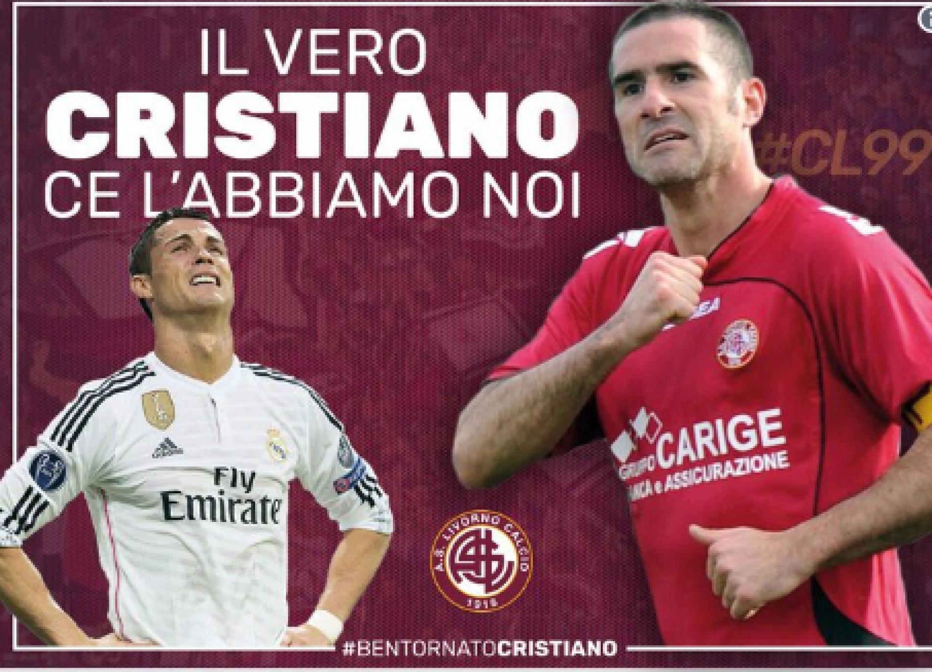A Livorno c'è già un Cristiano, parola del club toscano. Bentornato Lucarelli! [FOTO]
