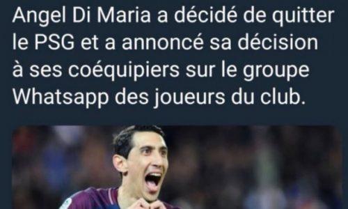 """Mercato, Di Maria allontana le voci: """"Smettetela di mentire"""""""