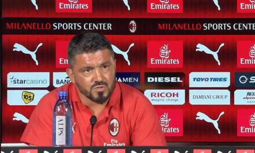 """Milan, Gattuso in conferenza: """"Dimissioni? Assurdo. Occhio alla Lazio, ci mette sempre in difficoltà"""""""