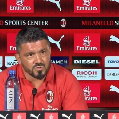 """Supercoppa Italiana, Gattuso in conferenza: """"Higuain non mi ha detto che vuole andare via"""""""