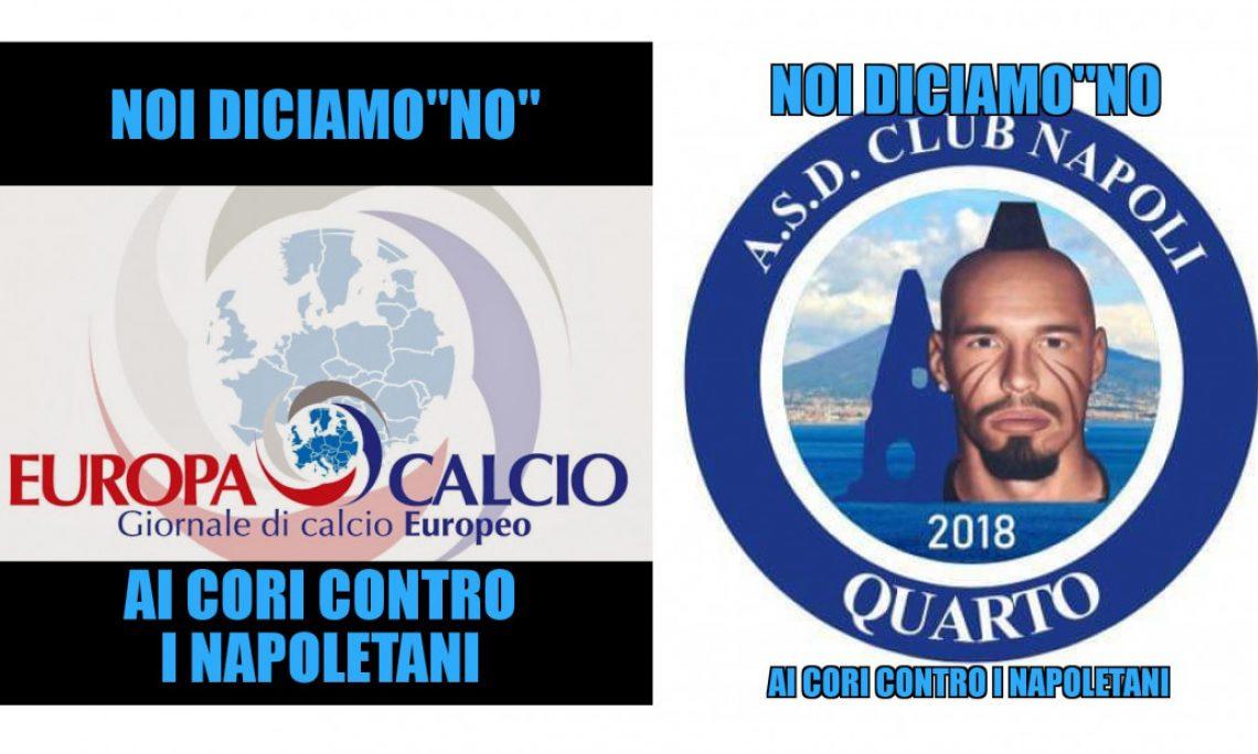 Europacalcio e Asd Club Napoli Quarto, l'azzurro sul viso