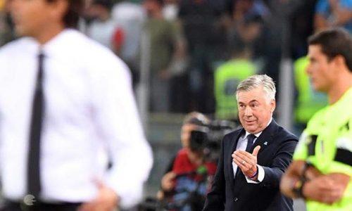 Conferenza Ancelotti Salisburgo Napoli 2-3, da Mertens a Lozano