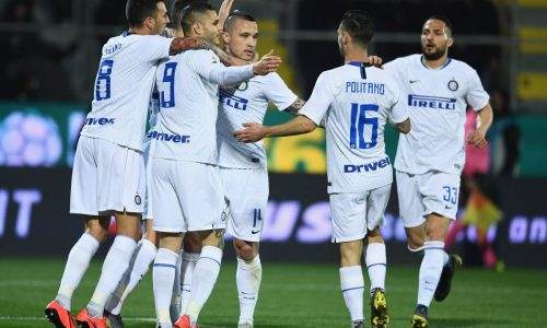 Nainggolan, Perisic e Vecino: l'Inter vince a Frosinone