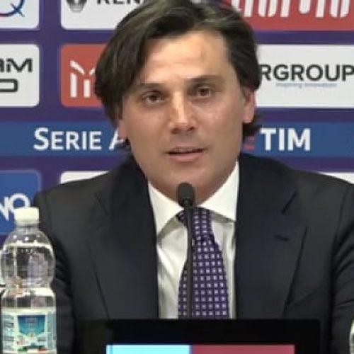 """Fiorentina, Montella: """"Ho commesso errori, ma volevo giocatori già fatti"""""""
