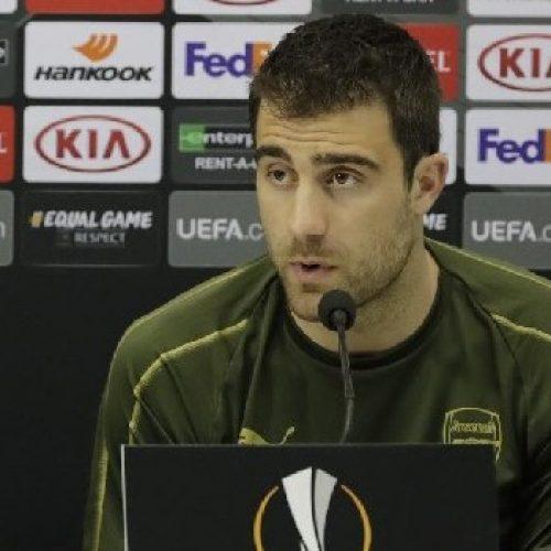 """Arsenal, Papastathopoulos: """"Vogliamo la finale d'Europa League"""""""