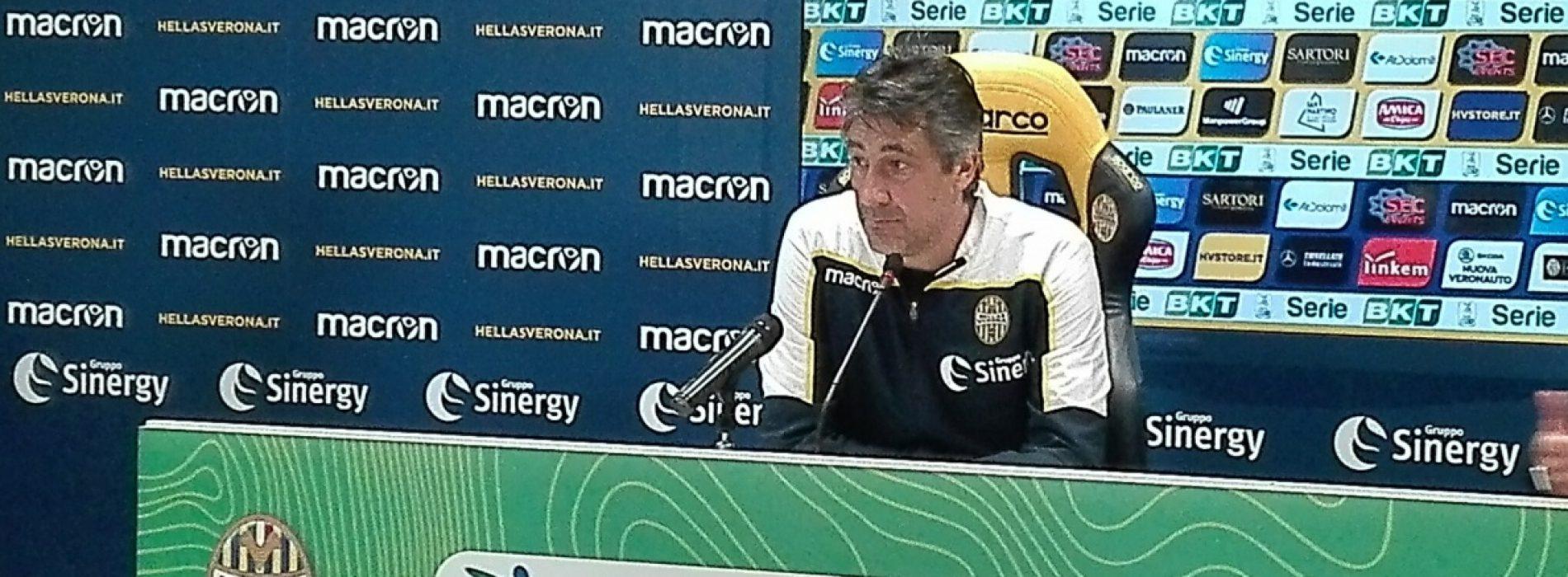 """Verona, Aglietti: """"Anno nefasto per la B, il pubblico ci può spingere alla vittoria contro il Perugia"""""""