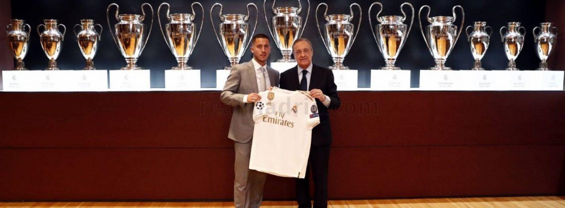 """Real presentazione Hazard: """"Un sogno essere qui"""""""