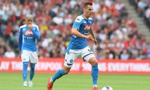 Napoli Milik Premier, ipotesi inglese per l'attaccante polacco