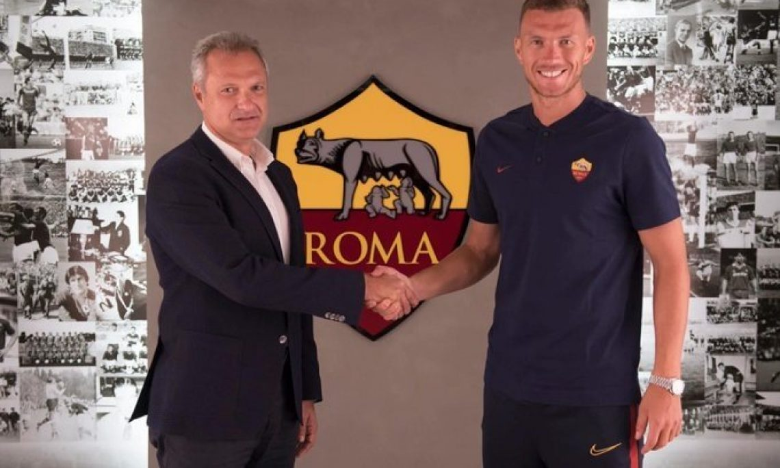 Dzeko rinnova con la Roma: ogni tanto una storia d'amore
