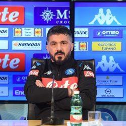 """Napoli AZ Gattuso: """"Europa League nostro obiettivo, non farò molti cambi"""""""