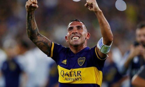 Tevez onora Maradona: Gol e dedica in Coppa Libertadores