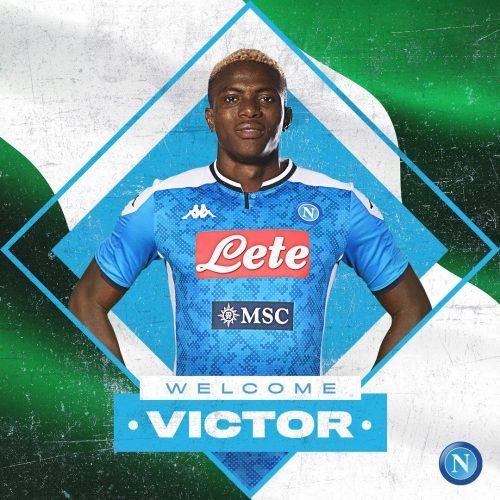 Napoli Osimhen Ufficiale: l'attaccante nigeriano preso a titolo definitivo