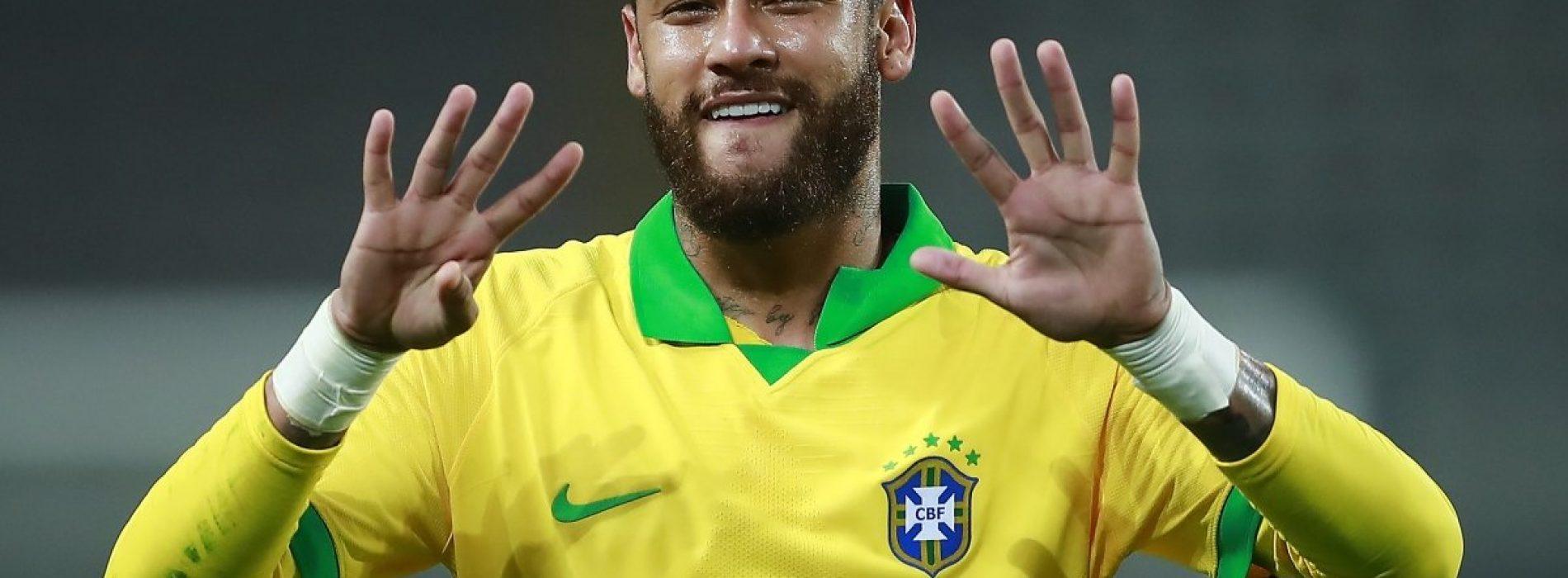 Brasile, record Neymar e saluto a Ronaldo contro il Perù